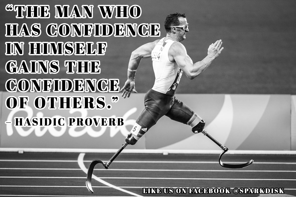 Confidence Meme: The man who has confidence in himself | Spark Disk