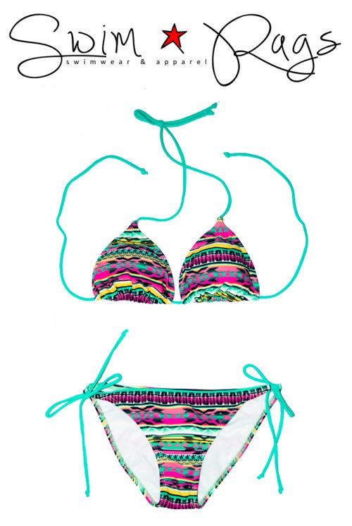 Swim Rags Tribal Print Bikini
