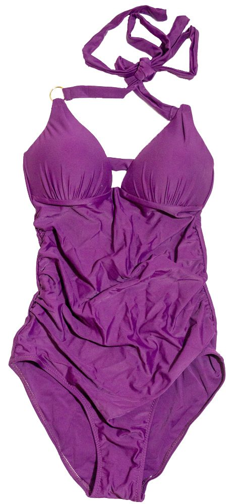 Ruched Plum Tummy Tamer One-piece Swimsuit from Swim Rags