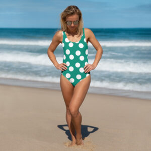 Green Polka Dot one-Piece Bikini Swimsuit