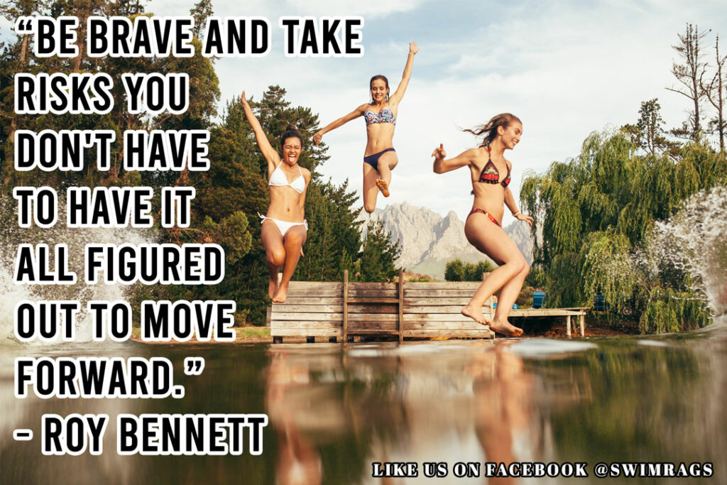 "Inspirational Meme: ""Be brave and take risks… You don't have to have it all figured out to move forward."" ― Roy Bennett"