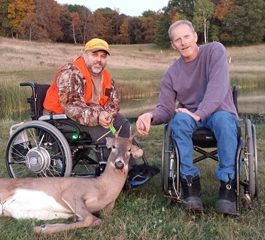 Hunters with disabilities - Photo credit: DNR