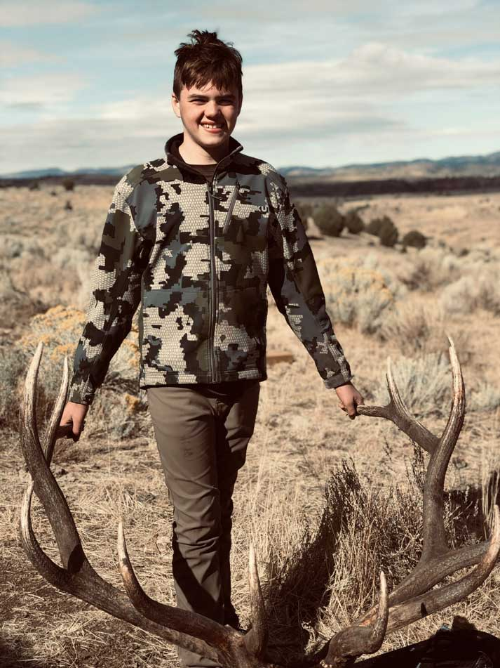 Shawn States with this trophy bull elk in Idaho
