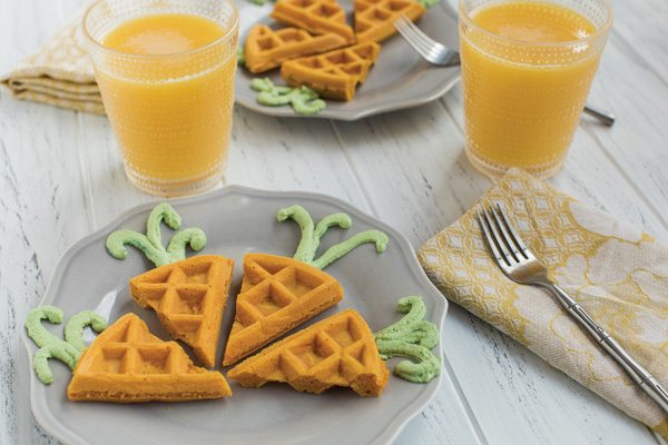 Recipe: Carrot-Shaped Waffles
