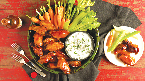 Crispy Baked Wings with Chipotle Barbecue Sauce or Nashville-Style Sauce